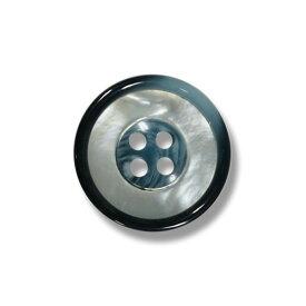 1139 ブルー(色番:416) 15mm /[EXCY天然貝ボタンシリーズ]