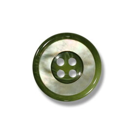 1139 グリーン(色番:420) 15mm /[EXCY天然貝ボタンシリーズ]
