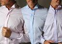 日本製ウイングカラーシャツ スーパースリム カラータイプ