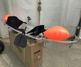 クリアカヤック Exect EX245Junior オール付き 2人乗り 透明 タンデム 海 シーカヤック