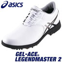 asics(アシックス) GEL-ACE LEGENDMASTER 2 メンズ ゴルフ シューズ TGN918 ホワイト/ガンメタル
