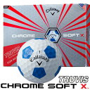Callaway(キャロウェイ) CHROME SOFT X TRUVIS ゴルフ ボール ホワイト/ブルー (12球)