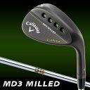Callaway(キャロウェイ) MD3 MILLED ウェッジ マットブラック Dynamic Gold S200 スチールシャフト [日本正規品]
