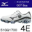 MIZUNO(ミズノ) GENEM -ジェネム- 007 Boa メンズ ゴルフ シューズ 51GQ1700 (4E) *