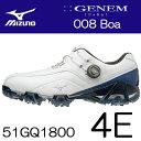 MIZUNO(ミズノ) GENEM -ジェネム- 008 Boa メンズ ゴルフ シューズ 51GQ1800 (4E)