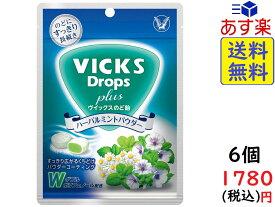 大正製薬 ヴイックスのど飴プラス ハーバルミントパウダー 62g ×6袋 賞味期限2023/03