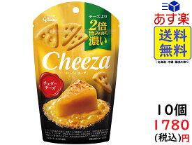 江崎グリコ 生チーズのチーザ チェダーチーズ 40g ×10個 賞味期限2022/03