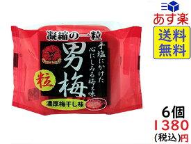 ノーベル 男梅 粒 14g×6個 賞味期限2021/03