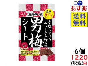 ノーベル 男梅 シート 27g×6個 賞味期限2020/10