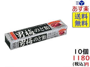ノーベル 男梅 のど飴 スティック 10粒×10個 賞味期限2020/10