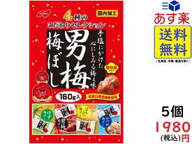 ノーベル製菓 男梅 梅ぼし 4種のこだわりセレクション 160g×5袋 賞味期限2020/09