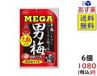ノーベル メガ男梅粒 30g ×6袋 賞味期限2021/11