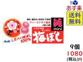 アサヒグループ食品 梅干し純ミニ 12粒(4粒×3袋)×9袋 賞味期限2023/06