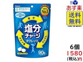 カバヤ食品 塩分チャージタブレッツ 90g×6袋 賞味期限2021/09
