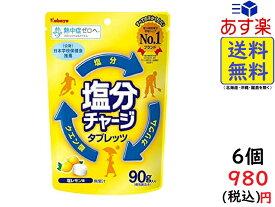 カバヤ食品 塩分チャージタブレッツ 塩レモン 90g×6袋 賞味期限2021/12