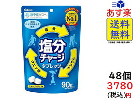 カバヤ食品 塩分チャージタブレッツ 90g×48袋 賞味期限2020/12