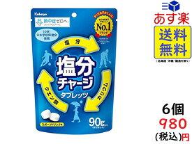 カバヤ食品 塩分チャージタブレッツ 90g×6袋 賞味期限2021/12