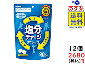 カバヤ食品 塩分チャージタブレッツ 90g ×12袋 賞味期限2022/09