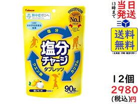 カバヤ食品 塩分チャージタブレッツ 塩レモン 90g ×12袋 賞味期限2022/11