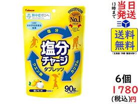カバヤ食品 塩分チャージタブレッツ 塩レモン 90g ×6袋 賞味期限2022/11