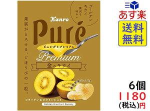 カンロ ピュレグミプレミアム金のキウイ 63g ×6個 賞味期限2020/11
