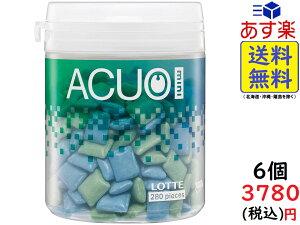 ロッテ ACUO Mini (クリアミントミックス) ファミリーボトル 140g ×6個