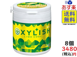 明治 キシリッシュガム ライムクールボトル 94g ×4個 ×2ケース