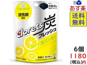 モンデリーズ クロレッツ炭フレッシュ レモンミントパウチ 9粒 ×6個
