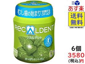 モンデリーズ リカルデント さっぱりミントガム(粒)ボトルR 140g ×6個 賞味期限2022/08
