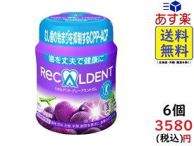 モンデリーズ・ジャパン リカルデント グレープミントガム ボトル 140g ×6個 賞味期限2022/06