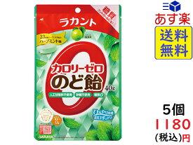 SARAYA ラカント カロリーゼロ飴 ハーブミント味 40g ×5個 賞味期限2022/07/29