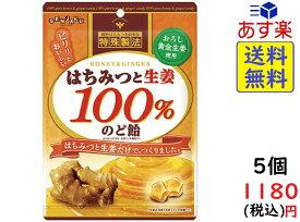 扇雀飴本舗 はちみつと生姜100%のど飴 50g×5袋 賞味期限2022/01