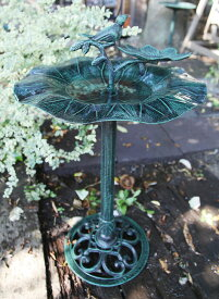 えさ台付バードバス フラワー(13079)(ジャービス商事)エクステリア ガーデニング用品 ガーデン用品 装飾用品 ディスプレイ 餌台