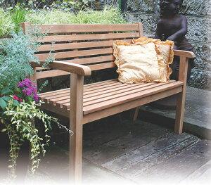 アリシアベンチ(20858)(ジャービス商事)ガーデンファニチャー ガーデン家具 ガーデンベンチ ガーデンチェア 椅子 イス チーク 木製