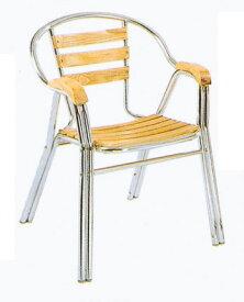 チークアルミチェア YC052 2脚セット(32612)(ジャービス商事)ガーデンファニチャー ガーデン家具 ガーデンチェア 椅子 イス