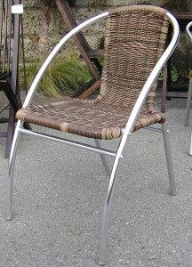 人工ラタンアルミチェア YC041 2脚セット(32614)(ジャービス商事)ガーデンファニチャー ガーデン家具 ガーデンチェア 椅子 イス