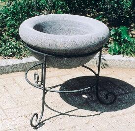 ガーデンパン S-1B(34619)(ジャービス商事)エクステリア ガーデニング 園芸 水まわり用品 水受け 水鉢 自然石