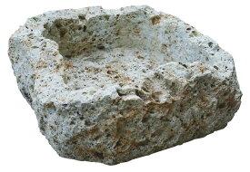 大谷石割肌鉢 U-1型(35701)(ジャービス商事)エクステリア ガーデニング用品 園芸用品 ディスプレイ 自然石 石鉢