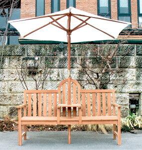 アンブレラベンチ(36320)(ジャービス商事)ガーデンファニチャー ガーデン家具 ガーデンベンチ ガーデンチェア 椅子 イス チーク 木製