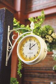 ガーデン時計 ビクトリアW(37906)(ジャービス商事)ウォールデコレーション ウォールクロック インテリア ディスプレイ 壁面装飾 ガーデンオーナメント