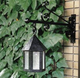 アンティークランプ 六角型(40002)(ジャービス商事)エクステリア アウトドアライト 門灯 玄関照明 ガーデンライト ブラケットタイプ