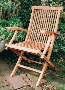折り畳みアームチェア(20703)(ジャービス商事)ガーデンファニチャー ガーデン家具 ガーデンチェア 椅子 イス チーク 木製