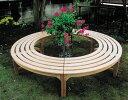 ラウンドベンチ2型(36708)(ジャービス商事)ガーデンファニチャー ガーデン家具 ガーデンベンチ ガーデンチェア…
