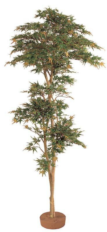 人工植物 和風もみじ 夏もみじ 鉢無 1.5m GD-53S(21530000)(タカショー)送料無料 グリーンデコ和風 人工樹 室内用 インテリア