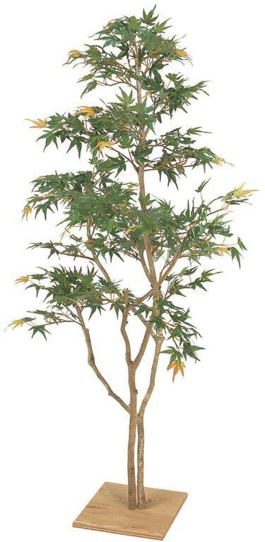 人工植物 和風 もみじ板付 青葉 1.3m GD-111(21572000)(タカショー)送料無料 人工樹 観葉植物 室内用 インテリア グリーンデコ