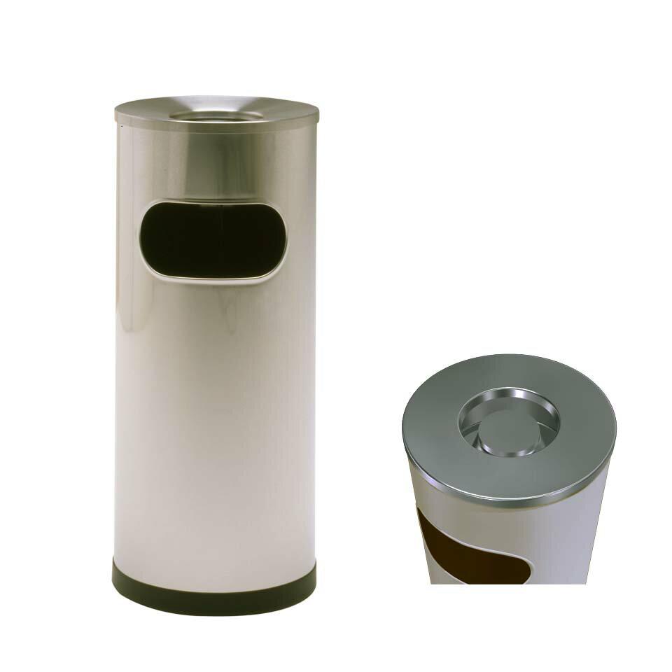 クリンスモーキング SS103(ミヅシマ工業)灰皿 屑入れ 灰皿兼屑入れ機能 施設用品 ステンレス製 本州・四国・九州送料無料