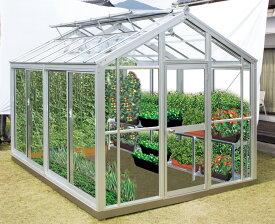 【設置工事込】家庭用温室G3(アルミフレーム・ガラスタイプ)アルミニネオ NAB-2(3坪タイプ)(大仙)