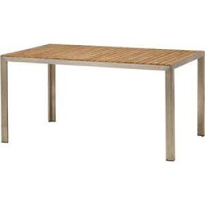 チークスタイル ライズ ダイニングテーブルTRD-155T(33879500)(タカショー)送料無料 ガーデンファニチャー ガーデンテーブル 机 天然木