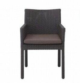 ロムガーデン 庭座 スクエアチェアー(ダークブラウン)KFB-C013(34714800)(タカショー)送料無料 ガーデンファニチャー ガーデンチェアー 椅子 イス 人工ラタン