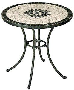 タンジール モザイクテーブル マットグリーン HQ-M1TG(32187200)(タカショー)送料無料 ガーデンファニチャー ガーデン家具 ガーデンテーブル 机